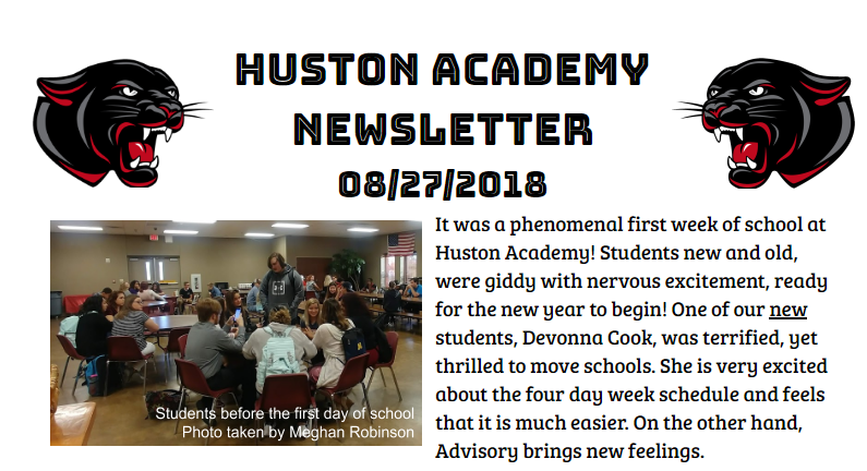 Check out the first week newsletter!