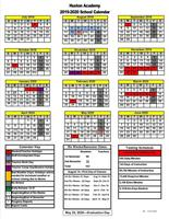 Huston Academy 2019-20 School Calendars